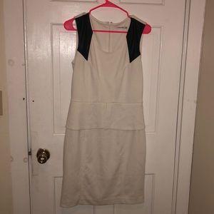 Calvin Klein Professional Ivory Peplum Dress